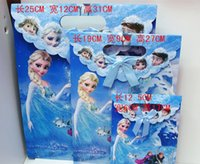 Cheap 2014 hot paper bag Frozen gift paper bags with handles for Frozen gift embalagem the best Christmas gift for girl 12pcs   lot