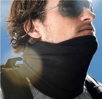 Wholesale Unisex Black Multifunction Polar Fleece Thermal Scarf Winter Face Mask Neck Warmer Hat