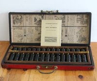 abacus manual - China s large antique leather box foreign affairs business gifts to send English manual An abacus