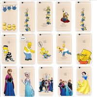 Wholesale iphone Case D cartoon Simpson Frozen cases star wars Snow White Spiderman Mermaid Case zootopia cover for iphone c se s plus