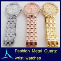 high end watches - US Edition Geneva High end Luxury Quartz Ladies Watches For Mens Women Unisex Diamond Steel Business Crystal Wrist Watches For Christmas