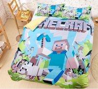 Cheap 2015 new arrivals Minecraft Minecraft 3D bedding set cotton bedding quilt official children's bedding package design twin full queen D2429 5