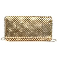 aluminum envelopes - Hot Women Evening Party Bag Day Clutches Aluminum Mesh Envelope Flap Bags Sequined Long Chain Handbags Korean Fashion Colors