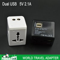 Wholesale All in One Universal International Plug Adapter USB Port A World Travel AC Power Charger Adaptor