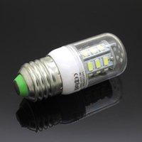 Wholesale E27 E14 G9 GU10 SMD LED Corn Bulb With Cover V V W leds Warm Cool White Cree Led light