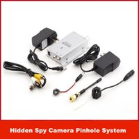 al por mayor cámaras de vigilancia kits baratos-económica cámara oculta Pinhole Mini Wireless Niñera espía kit de seguridad CCTV Video Vigilancia barato estenopeica Sistema NUEVO