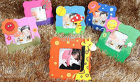Wholesale Christmas gift Mixed cute wooden cartoon children s kids photo frame cartoon baby photo frame