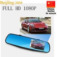 al por mayor gps espejos retrovisores-venta caliente de 4.3 '' HD videocámara del coche Espejo retrovisor con cámara de 140 grados del video del coche DVR Dash Cam G-Senor 010230