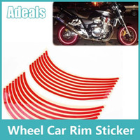 Wholesale Hot Colors available Wheel Car Rim Sticker Big motorcycle Wheel Decal Tape Stickers