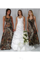 Wholesale Lavender Dresses For Brides Maids - 2016 Camo Bridesmaid Dresses Halter Customized A Line Long Dress Vintage Forest Formal Floor Length Brides Maid Dress For Women