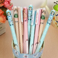 baby doll things - 2015 Kawaii baby doll Gel Pens ballpoint Pen school things Office student stationery Pen Supplies mm black pen h