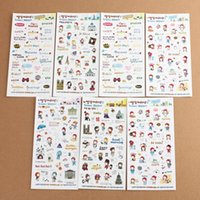 best photo books - 6pcs set Best Price Cute Girl Travel Diary Stickers Scrapbook Decoration Photo Fit For Books Gift Color Randomly