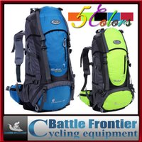 Wholesale outdoor profesional climbing backpack for men s women s camping packsack mountaineering knapsack bag with internal frame