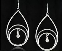 antique levels - 3 levels With Small Bell Drop Earrings Antique Silver Earrings For Women Accessory pairs per