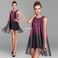 latin dress - tassels stage wear Modern dance jazz performance tassel dance dress