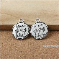 antique jewelry miami - 30 Vintage Charms miami Pendant Antique silver Fit Bracelets Necklace DIY Metal Jewelry Making metal love charm