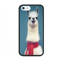 awesome iphone covers - Awesome Cartoon Animal Red Scarf Llama Print Durable Hard PC TPU Cell Phone Cases Covers Design for iPhone s Black Retail Accessories
