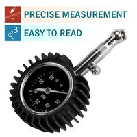 air pressure pipe - Flexible High Accuracy Hippo Tire Pressure Gauge with Large Clear Dial with Dual Layer Protection Copper Core steel Pipe