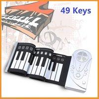 Precio de Piano del teclado suave 49-A estrenar 49 llaves portable flexible enrollan para arriba el piano electrónico caucho de silicona teclado suave piano instrumento musical mini