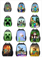 Wholesale 2015 new backpacks my world Minecraft backpack cool school bag unisex minecraft game bag minecraft bag printing backpack