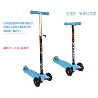 Wholesale High quality Adjustable height Three wheel Scooters Kids Foot Scooters Liftable Children Kick Scooter Free