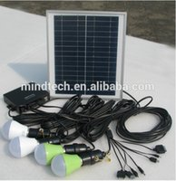 Wholesale Portable solar home light solar light inbuilted in L ion battery for lamps and charge mobile