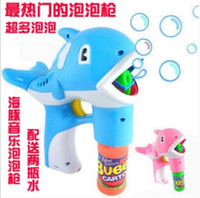 toy bubble gun - Children s toys electric bubble gun dolphins blowing bubbles automatic bubble machine gun tuba music lights haoyouduo