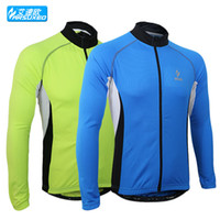 Wholesale ARSUXEO Men Sports Cycling Jersey Bike Bicycle Running Long Sleeves MTB Jersey Mountain Bike Clothing Shirts Wear