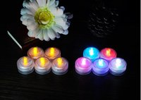 Wholesale Waterproof LED Submersible Candles Tealight floating water LED Candles Fish Tank Decor Lighting For Wedding Birthday Party Bar Decoration