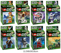 Wholesale Star Wars Minifigure Styles Star Wars Action Figures Yoda Han Solo Obi Building Blocks Sets Minifigure Model DIY Bricks set