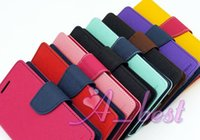 Wholesale For S5mini Mercury Fancy Dairy Wallet Stand Card Leather Case Folio Flip Cover Pouch Shell For Samsung Galaxy S5 S5 mini Phone Cases Bags