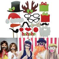 Divertido 17pcs DIY Photo Booth Atrezzo Bigote Lip Cuerno de regalos del palillo de la Navidad del partido NVIE orden $ 18Nadie pista
