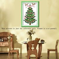 beautiful embroidery patterns - 13 cm CT Beautiful Handmade Embroidery Needlework Kits DIY Cross Stitch Set Christmas Tree Pattern Cross Stitching H16094