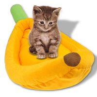 Wholesale Hot Sales DOG Cat Yellow Banana Shape Fruit Color Pet Cat and Dog Bed Kennel Products For Animals House For Dogs BT37