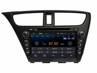 "Honda Civic 2014 Quad-Core 1024*600 HD 2 din 8"" Android 4.4 Car DVD GPS Navigation for Honda Civic 2014 With 3G WIFI Bluetooth IPOD TV Radio RDS USB AUX IN"