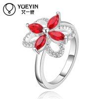 Wholesale 10pcs High grade silver ring jewelry Alloy diamond Romantic goddess ring retro gemstone jewelry zircon boutique R429
