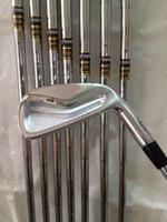 achat en gros de or dynamique arbres de club de golf-Les clubs de golf MP-H5 fers à repasser 3456789 # P Avec l'acier de l'or dynamique R300 8PCS MPH5 Fers de golf Venez headcover