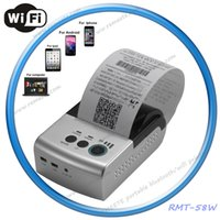 battery powered portable printer - Mini mm Pocket Portable WIFI Printer Battery Powered Thermal Receipt Printer Support Window Computer Andriod iOS Mobile