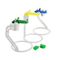 al por mayor sensores de plástico-Sistema de Posicionamiento Holder 1 traje Incluir 3 PC Nueva plásticos Dental Dentsply Digital X Ray Film Sensor Posicionador Holder