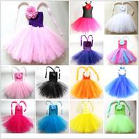 ballet sleeves - 2015 kid candy color dancing ballet party dress princess dress girl dancewear ball gown cake TUTU pettiskirt Costume dresses TOPB2905
