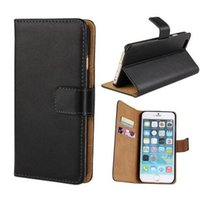 apple clip holder - hot For iphone S Plus S Real Genuine Leather Wallet Credit Card Holder Stand Case Cover For Plus Samsung Galaxy S6 edge
