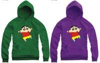 Wholesale Retail new sale cm kids hoodie Shin chan Print Cartoon Animation hoodie clothing color
