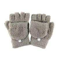 Wholesale Hot saling Lovely Womens Half Finger Gloves Fold Over Winter Warm Mitten Mitt Colors Lint