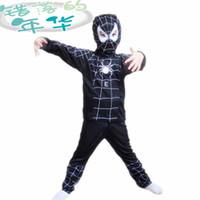 Wholesale Spider man costume spiderman suit Halloween spider man costume child spider man clothes novelty