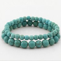 Wholesale Fashion Girl Women s Tibet style Natural Turquoise Bracelets Beaded Bangle Lovers Gift MB06