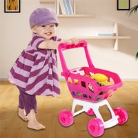 Wholesale New Baby toys Furniture Toys Mini Shopping Cart with Full Grocery Food Toy Playset for Kids Brand
