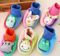 baby home shoes - Baby Boys Girls Animal Cute Shoes Mix Cartoons Fashion Toddler First Walker Shoes Warm Casual Home Baby Shoes For M Baby B3500