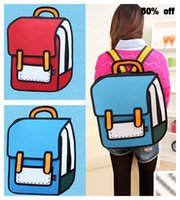 Wholesale D Jump Style D Drawing From Cartoon Paper Bag Comic Backpack Bag