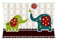 Wholesale Fashion Custom Strong and Tall Elephant Rectangle Soft Pillow Case Standard Size inch Two Sides printed