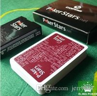 Wholesale 2016 HOT Red and Black Color PVC Pokers for Choosen and Plastic playing cards poker stars